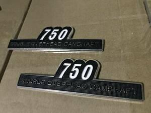 Zタイプ エンブレム 750 2枚set /ゼファー750等に!!検/サイドカバー 未使用 BEET RS キジマ ヨシムラZ750FX Z2 Z750RS 立体