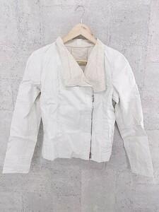 ◇ ARTISAN アルチザン COMME CA DU MODE リネン100% 長袖 ジップアップ ジャケット 11 オフホワイト # 1002800282807