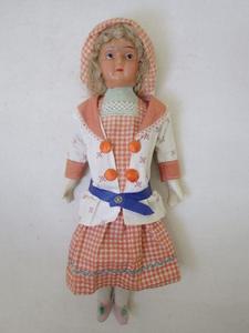 ★明治時代 セルロイド×石膏? 古い人形 日本製 レトロ 手作り? 外国の少女 当時物★