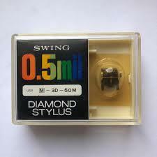 SWING 0.5mil DIAMOND STYLUS 三菱50M M-3D-50M レコード針