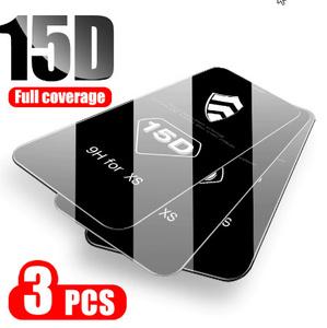 3ピース/ロット 15D エッジカバー保護 Iphone 7 8 6 6S プラス画面 iphone × XR XS 11 プロマックス k2584