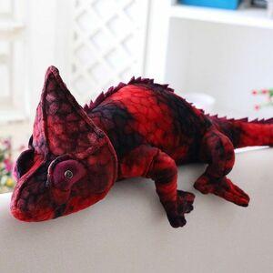 リアル過ぎる! カメレオンのぬいぐるみ 可愛い ペット 爬虫類 動物 アニマル トカゲ クッション おもちゃ 子供 誕生日 抱き枕 ka497