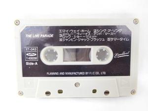 稼働未確認 テープ カセット・テープ カセット ザ・ライヴ・パレード THE LIVE PARADE 昭和レトロ 当時物の商品画像