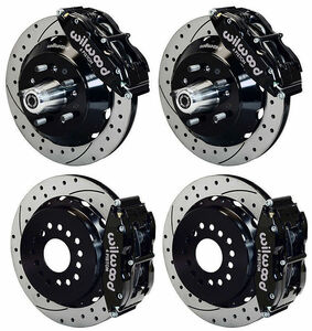 65-69 Ford series Mustang Mercury other Wilwood big brake kit front and back set 13 rotor 6/4 pot caliper front rear
