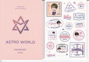 ☆New!■ASTRO/アストロ■写真付【パスポート式ノート50ページ&ステッカー】☆韓国☆チャ・ウヌ