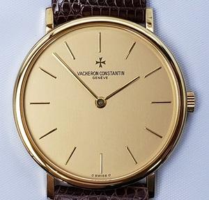 美品 VACHERON CONSTANTIN ヴァシュロン コンスタンタン エッセンシャル K18無垢 手巻き メンズ腕時計 ギャラ 保証書 レザーケース
