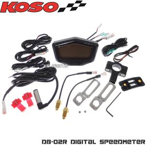 [レンジ切替可能]KOSO DB-02R LCDメーター スーパーディオZX/ライブディオZX/スーパージョグZR/リモコンジョグZR等のメーター埋込に