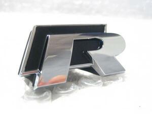 VW US純正 R-Line・エンブレム GOLF-R/フロント用 【GENUINE PARTS】 新品/GOLF6/