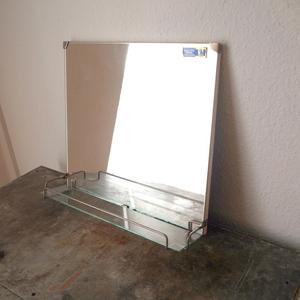 希少ドイツ ヴィンテージ 鏡台 洗面台 ガラス ミラー ディスプレイ 店舗什器 インダストリアル シャビー ミッドセンチュリー ミニマム 小物