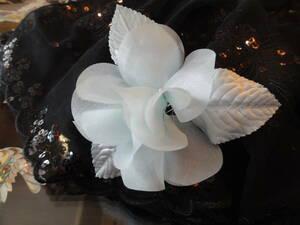 サックスブルーのコサージュ 青 結婚式 二次会 入学式 ⑲