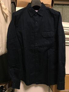 THE NORTH FACE PURPLE LABEL Cotton Twill Shirt サイズS コットン ネイビー パープルレーベル エルボーパッチシャツ ナナミカ nanamica