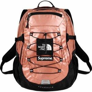 Supreme × The North Face 18SS Week7 Metallic Borealis Backpack Rose Gold オンライン国内正規納品書タグ付 シュプリーム バックパック