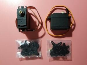 小型強力 サーボモーター 360度 2個 電子工作RC用 servo motor