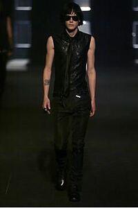 【即決】定価9万 希少 strip期 ディオールオム 04SS BEEノースリーブシャツ 黒 38 Dior Homme エディ時期