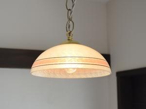 アンティーク照明 ヴィンテージデザイン ガラス ペンダントランプ 電笠 ライト 硝子 アールデコ