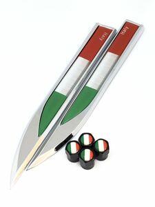 C イタリア 国旗 エアーバルブキャップ フェンダー ステッカー フェラーリ F355 458 テスタロッサ 308 328 348 355 456 458 488 575 599 b