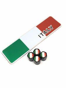 E イタリア 国旗 エアーバルブキャップ フェンダー ステッカー フェラーリ F355 458 テスタロッサ 308 328 348 355 456 458 488 575 599 b