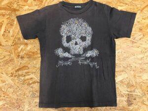 【送料無料】ビームスボーイ BEAMS BOY スカル ドクロ × お花 半袖Tシャツ レディース 刺繍 カジュアル 黒