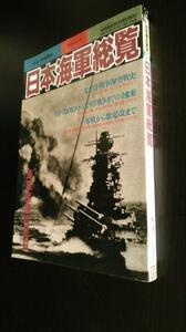 古本です。別冊歴史読本特別増刊 日本海軍総覧 戦記シリーズNo.26,新人物往来社、ほぼB5版雑誌です