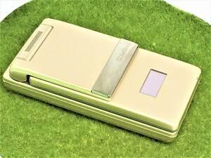 s235【美品】■同梱OK・初期化OK・清掃OK・判定OK■softbank 911SH ゴールド SHARP 中古 ガラケー 携帯 ソフトバンク