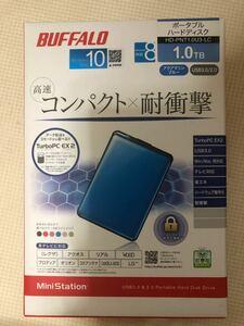 BUFFALO ポータブルハードディスク1TB ブルー