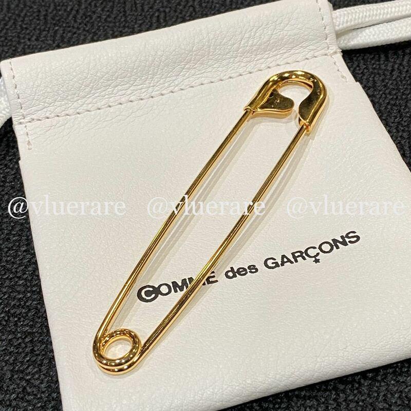 コムデギャルソン COMME des GARCONS 青山限定 青山オリジナル 24K塗装 ゴールド 金 Gold Safety Pin 安全ピン 10cm