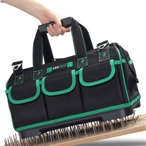 ★☆ ツールバッグポータブル電気技師バッグ多機能修復インストールキャンバス大厚みツールバッグ作業ポケット