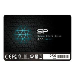 シリコンパワー SSD 256GB 3D TLC NAND採用 SATA3 6Gb/s 2.5インチ 7mm A55シリーズ Windows 10 Home 64bit Microsoft Office 365 ☆