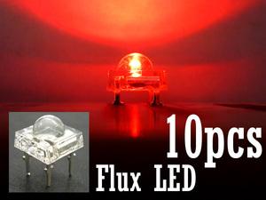 メール便 FluxLED 10個セット 赤 チップ L01 自作LED/22ш