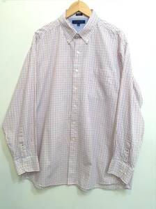 Tommy Hilfiger トミーヒルフィガー ボタンダウン チェックシャツ メンズXL~ 大きめ 白×青×赤 良品綺麗