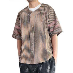 go slow Caravan ゴースローキャラバン 5分袖ゆったりベースボールシャツ モカ 3サイズ(M) 新品即決 アウトドア キャンプ
