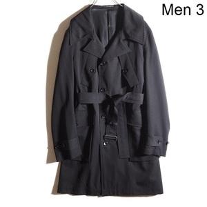 x3163P ▼Y's for men ワイズ フォーメン▼ ヴィンテージ サマーウールコート 黒 3 Yohji Yamamoto ヨウジヤマモト 春秋 rb mks