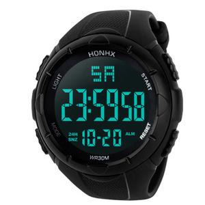 1円~ 50M防水 LED ダイバーウォッチ サーフィン ダイビング プール アウトドア 腕時計 デジタル スポーツプレゼントギフト ブラック s0032