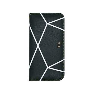 Android One S6 手帳型 ケース ベルトなし レザー 幾何学模様 おしゃれ かわいい T.C