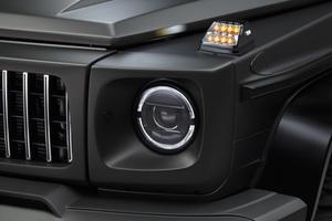 【WALD Black Bison Edition】 Mercedes-Benz Gクラス ヘッドライトカバー 2016y~2018y G350d G550 G63 W463 ゲレンデ ベンツ ライトカバー