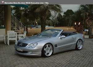 【WALD Executive Line】 Mercedes-Benz R230 ~06y SLクラス 3点KIT FRP 3点セット ベンツ SL350 SL500 SL550 SL600 SL63 3点キット 3点