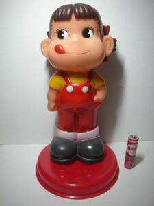 不二家 ペコちゃん 台座付き 貯金箱 人形 約21cm