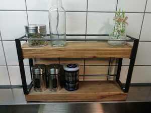 アイアンラック スパイスラック キッチンラック 台所
