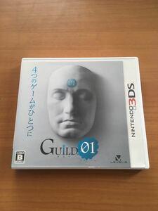 3DS ギルド01 箱付 説明書付 ソフト付 動作確認済 GUILD01 任天堂