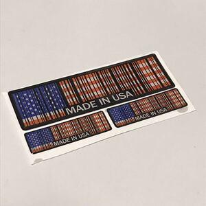 ステッカー バーコード 【アメリカ】 3点セット 星条旗 USA アメ車 キャデラック ジープ ラングラー シボレー クライスラー