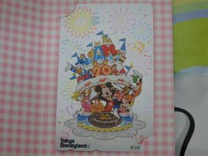 即決☆新品未使用☆東京ディズニーランド 20周年記念 20th テレホンカード テレカ 2003♪TDR TDL TDS
