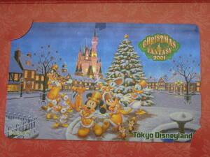 即決☆新品未使用☆東京ディズニーランド クリスマスファンタジー クリスマス 2001 テレホンカード テレカ♪TDR TDL TDS