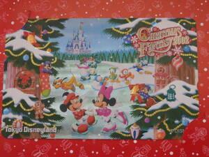 即決☆新品未使用☆東京ディズニーランド クリスマスファンタジー クリスマス 2002 テレホンカード テレカ♪TDR TDL TDS