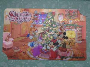 即決☆新品未使用☆東京ディズニーランド クリスマスファンタジー クリスマス 2000 テレホンカード テレカ♪TDR TDL TDS