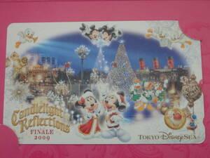 即決☆新品☆東京ディズニーシー キャンドルライトリフレクションズ ファイナル クリスマス 2009 テレホンカード テレカ♪TDR TDL TDS