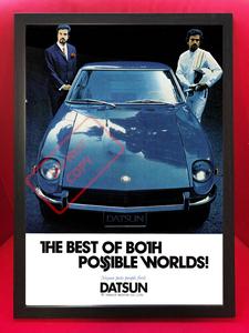 ★1973年 ダットサン 240Z 広告ポスター★フェアレディ/S30/S31/Datsun/日産/Nissan