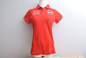 【程度良好 正規品】パーリーゲイツ PEARYGATES マスターバニー エディション レディース ポロシャツ 赤 サイズ1 Mサイズ MBE レッド