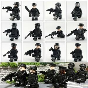 【送料無料】組み立ても楽しい♪ LEGO 互換 SWAT フル装備! 12体セット ミニフィグ 特殊部隊 パーツ レゴ ブロック CH00683