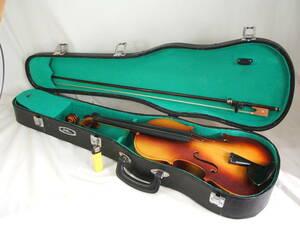 016■Bestler ベスラー バイオリン 練習用 弦楽器 ハードケース付 ジャンク品■