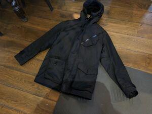 【美品】 BEAMS ビームス ナイロンジャケット フード ナイロンコート 黒 ブラック Sサイズ ラビット ファーマウンテンパーカー 定価6万